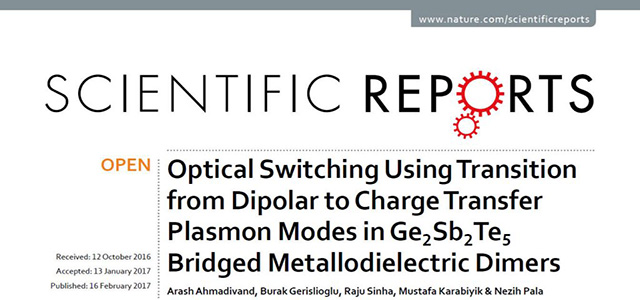 Our Paper is Published in Scientific Reports