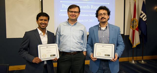 Raju and Burak Receive Provost Awards