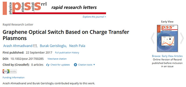 Our Paper is Published in Physica Status Solidi (RRL) – Rapid Research Letters