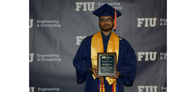 Our Undergraduate Researcher Mr. Tamim Delwar Receives Outstanding Graduate Award