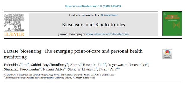 Our Paper is Published in Biosensors and Bioelectronics