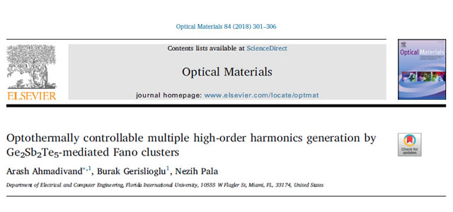Our Paper is Published in Optical Materials