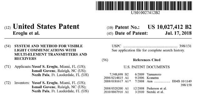 Our Patent for VLC is Granted