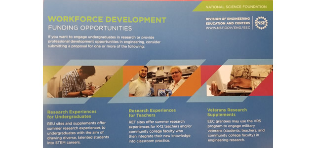 Our RET Effort is Featured on NSF Brochure